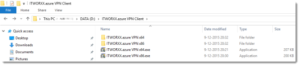04 Azure - customize the VPN Client software